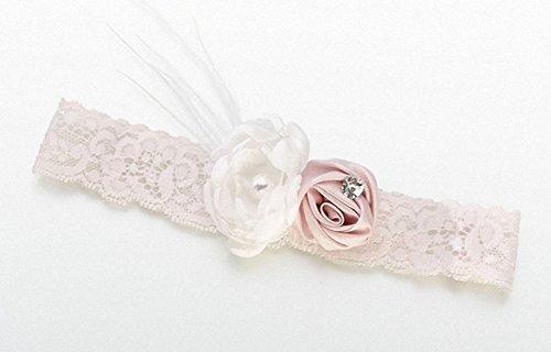 Strumpfband Blush. Vintage, ideal für Hochzeiten, GEBURTSTAGS-, baby, als Geschenk, als WEIHNACHTS- und more...