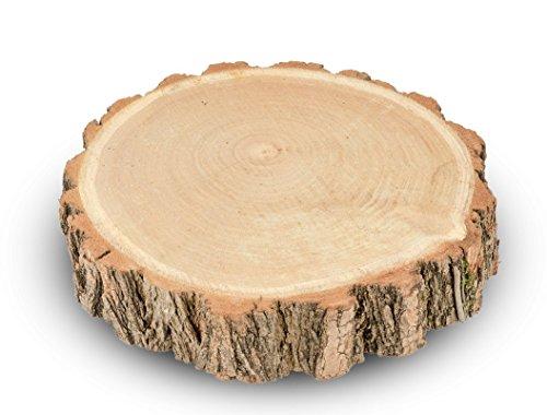 NaDeco Akazien Baumscheibe Ø20-30cm Holzscheibe große Baumscheiben Große Birkenscheibe Akazienscheibe Birkenscheibe Holzscheibe zur Dekoration