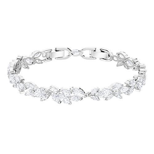 Swarovski Louison Armband, Rhodiniertes Damenarmband mit Funkelnden Weißen Kristallen
