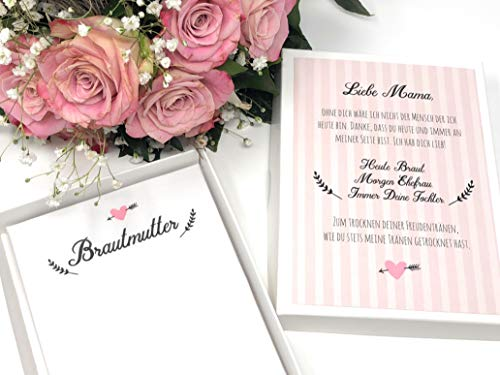 Geschenk Brautmutter - Stofftaschentuch für Freudentränen