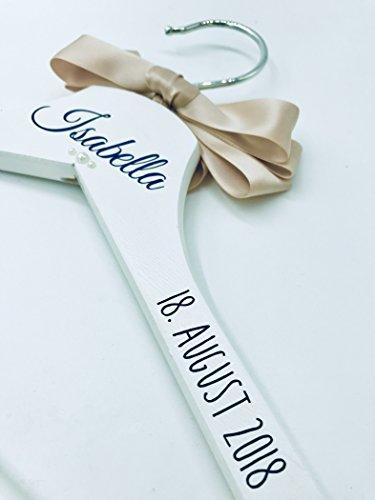 Hochzeit-Kleiderbügel weiß (2018 Edition) für *Braut*Hochzeit*Bridesmaid*Trauzeugin*Geschenk* Personalisierte Kleiderbügel