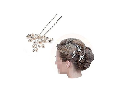 Musuntas 3 Stk.Fashion Retro elegant Damen Perlen Strass Hochzeit Brautschmuck Braut Haarschmuck Strass Haarklammer