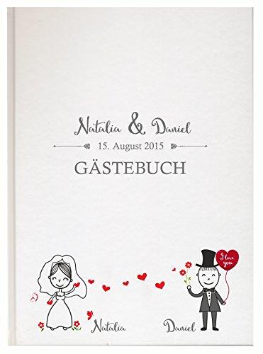 Livingstyle & Wanddesign Personalisiertes Gästebuch für Ihre Hochzeit Hochzeitsbuch individuell mit eigenen Namen Fotoalbum Mr Mrs Wedding (Motiv 09, 48 Seiten/ 24 Blatt)
