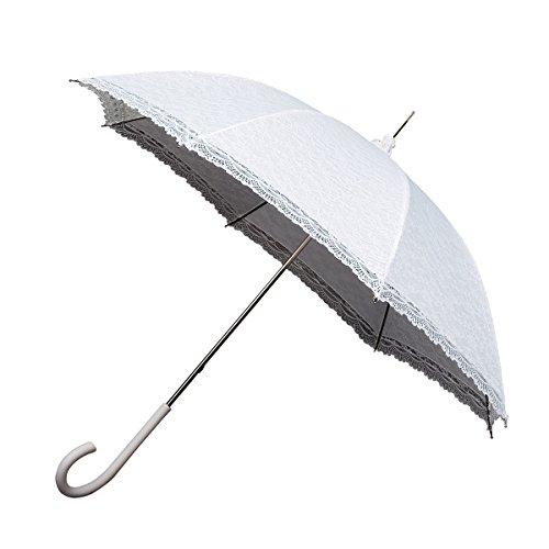 Ambiance-Live falconeLR1blanc Regenschirm, weiß, Diamètre: 90 cm