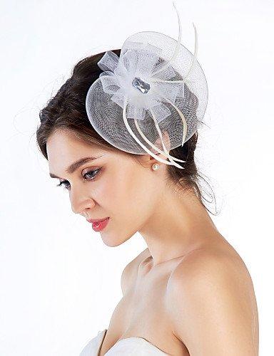 XY Elegante Net mit Feder Frauen Fascinator