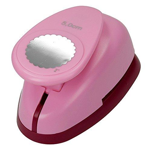 efco Stanzer XL, Kreis gezahnt 2 Inch Motivstanzer, Kern: Metall, pink