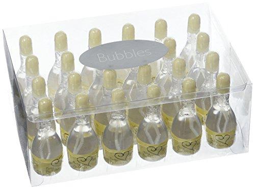 Neviti Wedding Bubbles Campagner Ivory - Seifenblasen für die Hochzeit oder Feier - 24 Stück