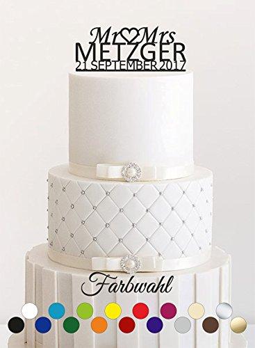 Cake Topper, Tortenstecker, Tortefigur Acryl, Tortenständer - Farbwahl - Etagere Hochzeit Hochzeitstorte