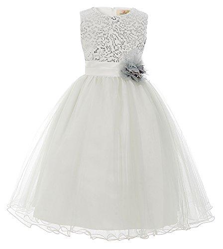GRACE KARIN Maedchen Prinzessin Hochzeit Party Festzug Kleid Champagner ,10 jahre,  Hellgrau