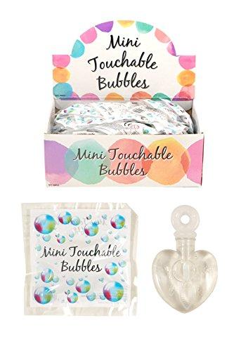 Touchable Bubbles Mini-Seifenblasen zum Anfassen, in Herzform, ideal für Partys, Hochzeiten, als Tischdekoration, etc., 48. Stk.