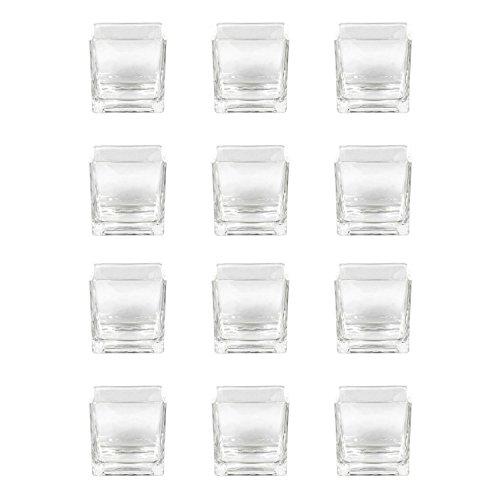 Sandra Rich Vase/Windlicht Glas Würfel, eckig, 8 x 8 cm, Stück:12 Stück