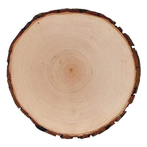 Rindenbrett Esche rund - Rindenscheibe Baumscheibe geschliffen Holzbrett, Brettgröße:Ø ca. 20cm