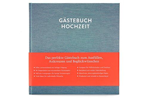 Glück & Segen Gästebuch Hochzeit zum Ausfüllen Sophie Kobalttürkis