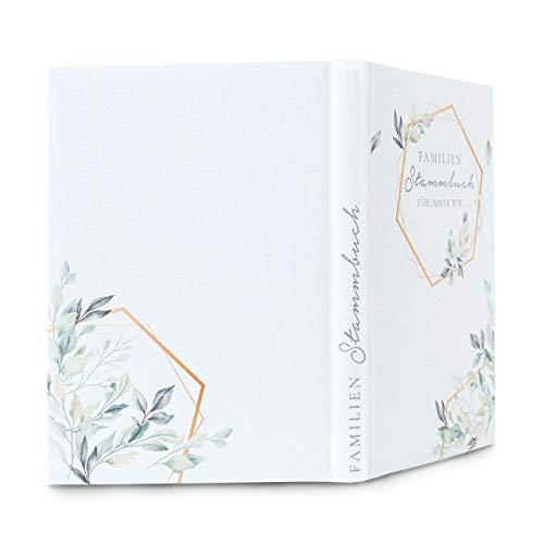 Hochzeitideal Stammbuch der Familie Familienstammbuch bedruckten Buchbinderleinen (Serie Bentia (507))