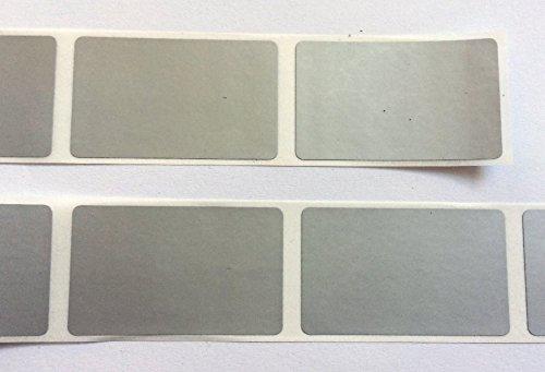 60 Rubbel-Etiketten in Silber, 30x50 mm, Scratch Off Label
