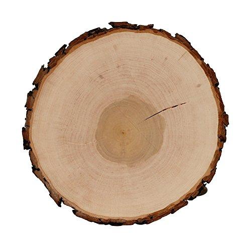 Riss Rindenbrett Esche rund - Rissbrett geschliffen Baumscheibe Rindenscheibe, Brettgröße:Ø ca. 20cm