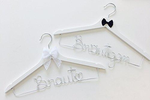 Kleiderbügel-Set aus Draht Braut & Bräutigam perfekt für Ihre Hochzeit, Braut, Bräutigam, Bügel, Hochzeit