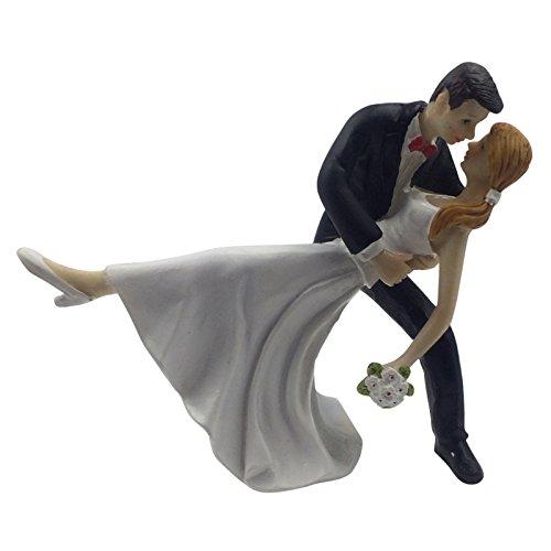 E-muse Romantische Tanz Braut und Bräutigam Hochzeits-Tortenfigur Cake Topper die Hochzeitstorte