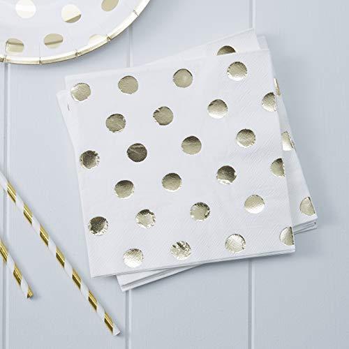 Pick and Mix - Gold Foiled Polka Dot Paper Napkins