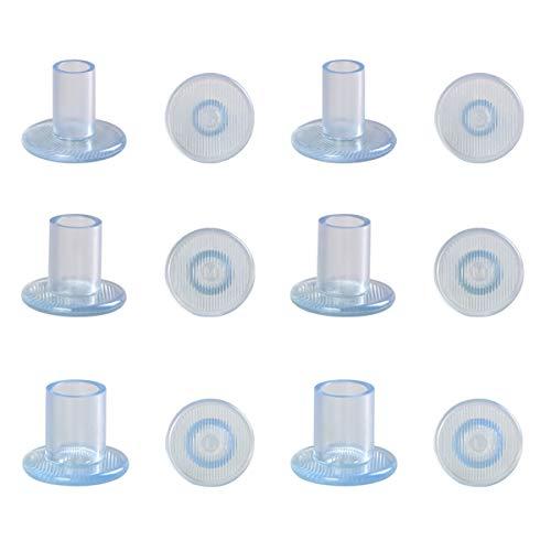 URAQT 6 Paar Absatzschoner, High Heel Protektoren, Heel Stopper, Absatzschoner Stöckelschuh, Hochzeiten und andere Formelle Anlässe S/M/L-Transparent