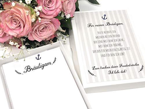Hochzeit Geschenk Bräutigam - Stofftaschentuch für Freudentränen