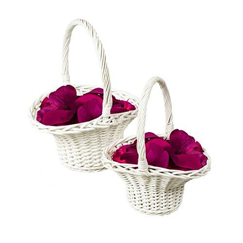 maDDma ® 2er-Set Blumenstreukorb, Blumenstreukörbchen, Blumenkinder Korb