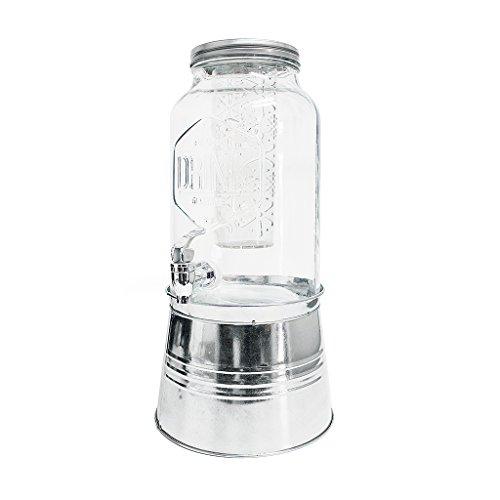 balvi Getränkespender Drink Farbe transparent Mit Aromabehälter und Standfuß Kapazität: 5,6 l Glas