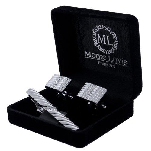 Monte Lovis Krawattennadeln & Manschettenknöpfe im Set - Hochwertiger Geschenk zum fairen Preis (S10)