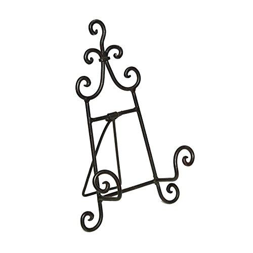 DESIGN DELIGHTS DEKO Halter STAFFELEI | Metall, 24 cm, schwarz | Vintage Menükartenhalter, Bilderhalter