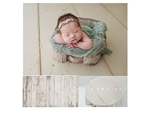 WaW 2.2x1.5m Langlebig Fotografie Stoff Studio Hintergrund Hellgrau Holz, Faltbare Fotoshooting Hintergrund Baby Neugeborenen, Haustier, Werbung Video Fotohintergrund Leinwand