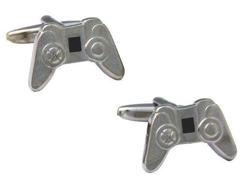 Gemelolandia Manschettenknöpfe Controller Playstation Silber, Farbe Silber