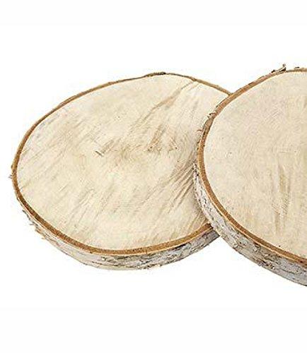 RiloStore 28cm Holzscheibe RUND Baumscheibe Birkenscheibe Holz Scheibe Baum Scheibe Basteln Holzstücke Birkenscheiben Holzscheiben