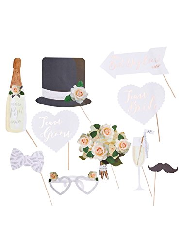 Ginger Ray Photo Booth Wedding Rose Gold 10 Stück