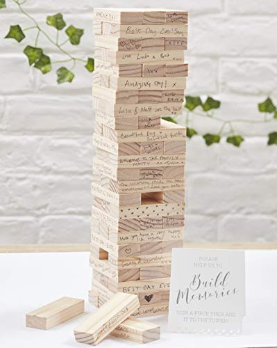 Ginger Ray Build A Memory Block Alternative Hochzeit Gästebuch – Beautiful Botanics