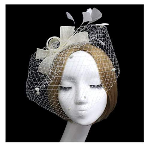Jelinda Damen Bowknot Feder Haarspange Haar Fascinator mit Schleier