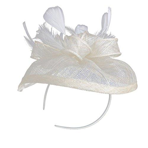 JELINDA Damen Sinamay Blume Feder Haar Fascinator Cocktail Hut