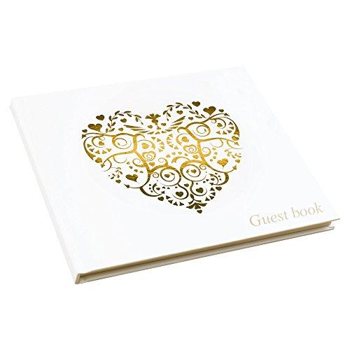 Neviti Vintage Romance Gästebuch, Crème/Gold