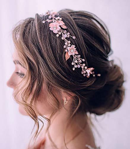 Unicra Stirnband, Haarkranz, Haarschmuck mit Perlen, Brautschmuck/Hochzeit, für Damen
