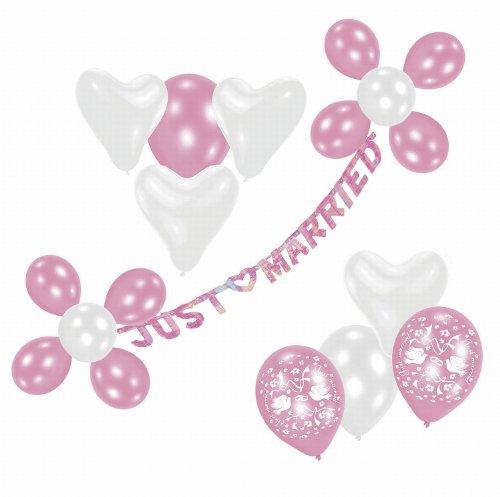 Riethmüller 450172 - Deko Set - Just married, Girlande und 20 Luftballons