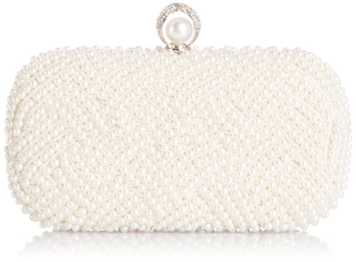 Menbur Wedding Damen Benevoli Clutches, Elfenbein (Ivory 04), 20x14x7 cm