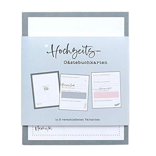 Odernichtoderdoch Hochzeits-Gästebuchkarten'Unsere Gäste' - Karten für Gästebücher - 50 Seiten, Höhe 15 cm, weiß