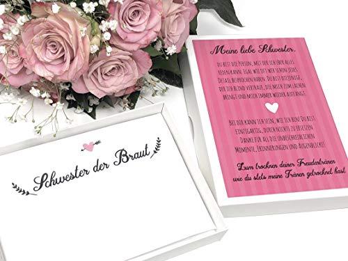 Hochzeit Geschenk Schwester - Taschentuch für Freudentränen