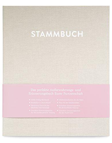 GLÜCK & SEGEN ALLES MIT LIEBE DIN A4 Stammbuch, Stammbuch der Familie, Familienstammbuch CASPAR (Cremebeige)