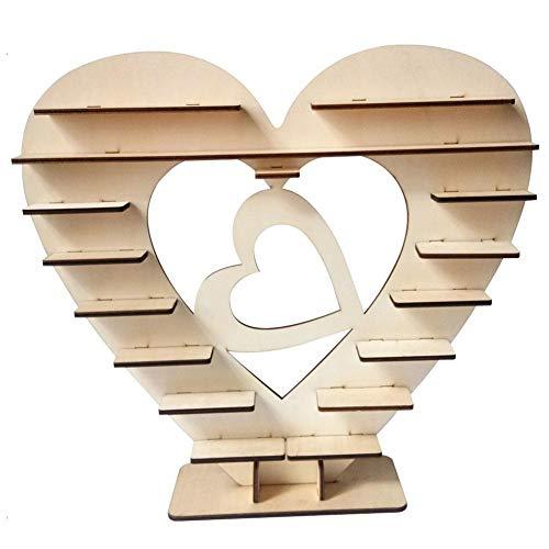 Ferrero Rocher Dekoständer für Schokolade, Herzform, für Süßigkeiten, Schokolade, Kuchen, Süßigkeiten, Dekorationen, für Hochzeit, Bankette, Party, Jahrestag herz