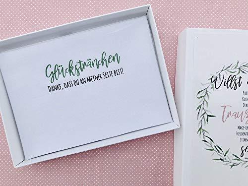 Hochzeit Geschenk Trauzeugin - Taschentuch für Freudentränen