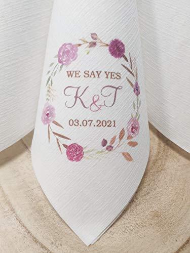 Duni Dunilin Servietten Bedruckt im Digitaldruck mit Foto, Grafik, Logo zur Hochzeit, Taufe, Kommunion, Konfirmation UVM. Größe 40x40cm (40)
