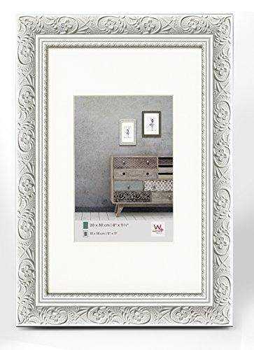 walther design CR070W Holzrahmen Barock 50 x 70 cm, weiß