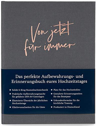 Modernes Stammbuch der Familie A5, Familienstammbuch Ben (Quarzgrau)