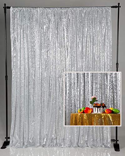 Kate Hintergrund Silber Pailletten 1,25x2,2m Hochzeit Foto Dekoration Hintergrund Party Dekoration Requisiten Baby Fotografie Hintergrund Vlog Shooting Dekoration