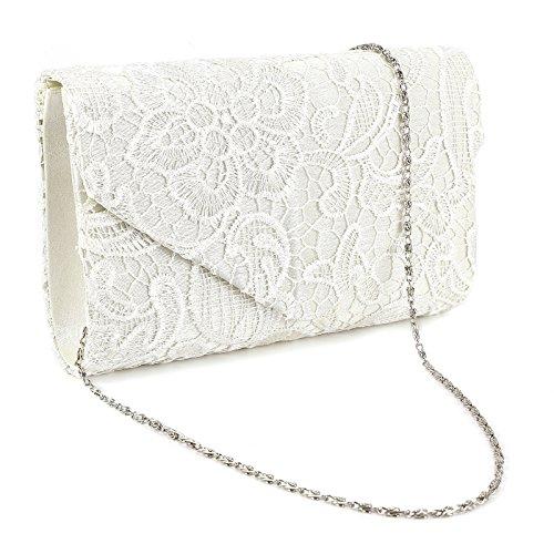 SurePromise One Stop Solution for Sourcing Spitze Umhängetasche Satin Tasche Damen Abendtasche Kette Handtasche für Party Hochzeit